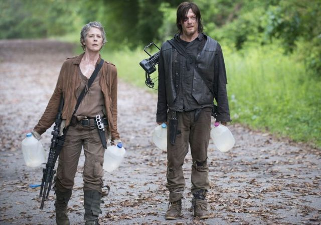 Carol Peletier (Melissa McBride) and Daryl Dixon (Norman Reedus) in Episode 2 Photo by Gene Page/AMC