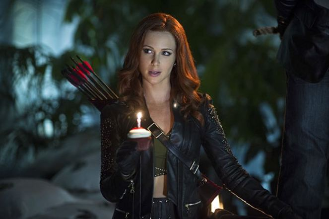 """Arrow -- """"Draw Back Your Bow"""" Pictured: Amy Gumenick as Carrie Cutter/Cupid -- Photo: Diyah Pera/The CW -- © 2014 The CW Network, LLC. All Rights Reserved."""