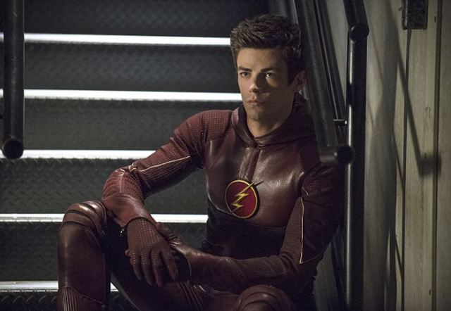 "Arrow -- ""The Brave and the Bold"" Pictured (L-R): Grant Gustin as The Flash -- Photo: Cate Cameron/The CW -- © 2014 The CW Network, LLC. All Rights Reserved."