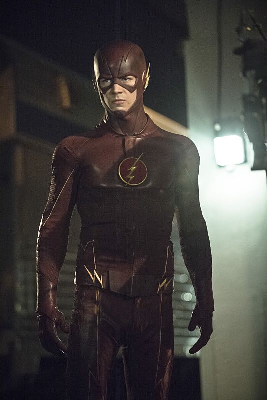 """Arrow -- """"The Brave and the Bold"""" Pictured: Grant Gustin as The Flash -- Photo: Cate Cameron/The CW -- © 2014 The CW Network, LLC. All Rights Reserved."""