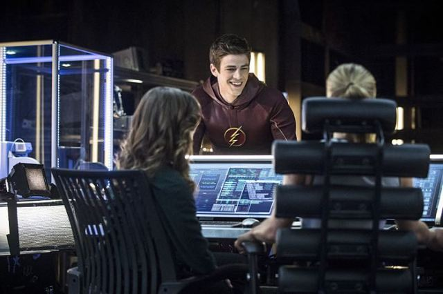 "Arrow -- ""The Brave and the Bold"" Pictured: Grant Gustin as The Flash -- Photo: Cate Cameron/The CW -- © 2014 The CW Network, LLC. All Rights Reserved."