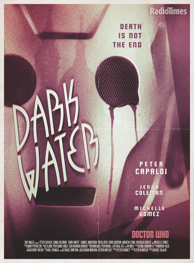 Doctor Who_Series 8_Episode 11_Dark Water_Retro Poster by Stuart Manning