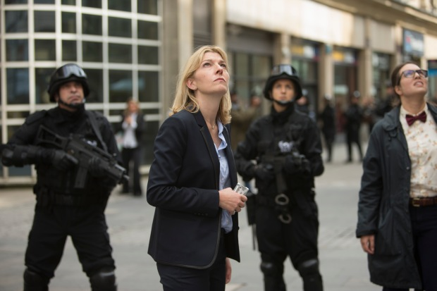 Doctor Who – Series 8 Episode 12 – Death in Heaven – JEMMA REDGRAVE as Kate Lethbridge-Stewart, INGRID OLIVER as Osgood – (c) BBC – Photo Adrian Rogers