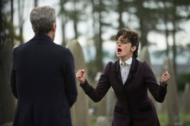 Doctor Who – Series 8 Episode 12 – Death in Heaven – PETER CAPALDI as The Doctor, MICHELLE GOMEZ as Missy – (c) BBC – Photo Adrian Rogers