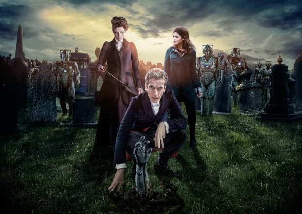 Doctor Who – Series 8 Episode 12 – Death in Heaven – MICHELLE GOMEZ as Missy, PETER CAPALDI as The Doctor, JENNA COLEMAN as Clara, Cybermen – (c) BBC – Photo Adrian Rogers; Steve Brown; Lee Binding