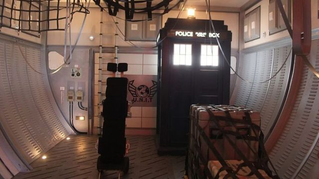 The TARDIS aboard Boat One.
