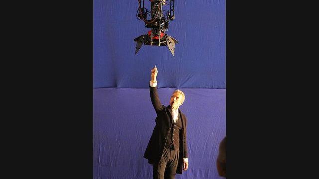 Peter Capaldi shoots a key scene.