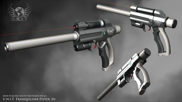 UNIT tranquiliser pistol.