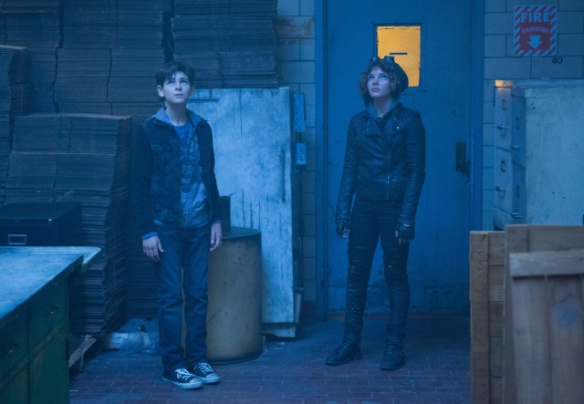 "GOTHAM: Bruce Wayne (David Mazouz, L) and Selina Kyle (Camren Bicondova, R) are captured in the ""Lovecraft"" episode of GOTHAM airing Monday, Nov. 24 (8:00-9:00 PM ET/PT) on FOX. ©2014 Fox Broadcasting Co. Cr: Jessica Miglio/FOX"