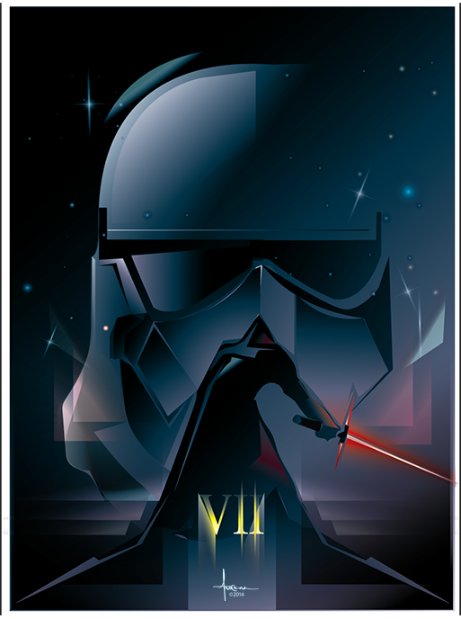 Star Wars_The Force Awakens_Vector Art by Orlando Arocena3