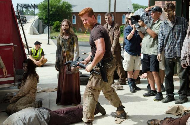 Michael Cudlitz as Abraham - The Walking Dead _ Season 5, Episode 5 _ BTS - Photo Credit: Gene Page/AMC