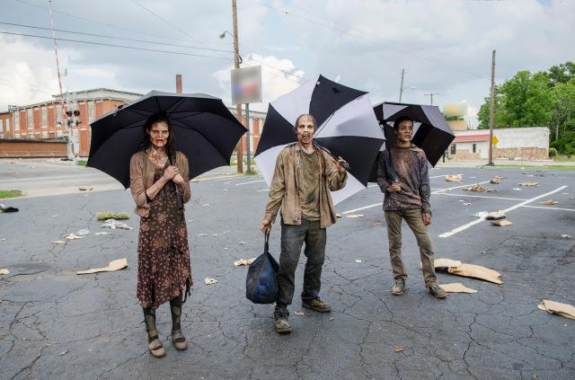 Walkers - The Walking Dead _ Season 5, Episode 5 _ BTS - Photo Credit: Gene Page/AMC