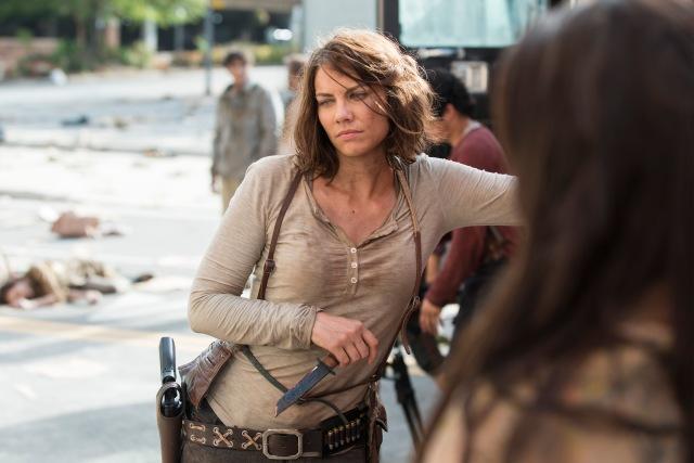 Lauren Cohan as Maggie Greene - The Walking Dead _ Season 5, Episode 5 _ BTS - Photo Credit: Gene Page/AMC