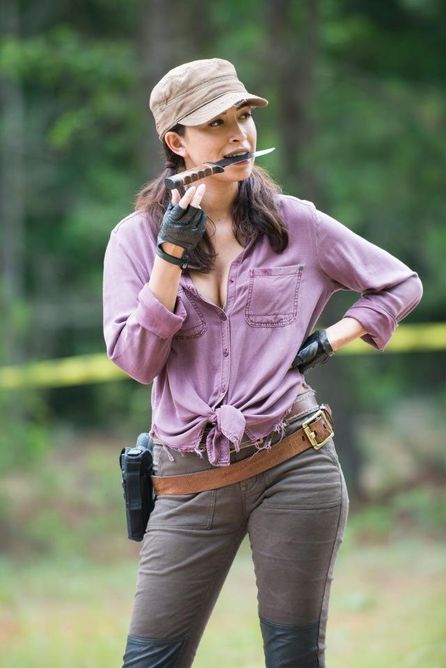 Christian Serratos as Rosita Espinosa - The Walking Dead _ Season 5, Episode 5 _ BTS - Photo Credit: Gene Page/AMC
