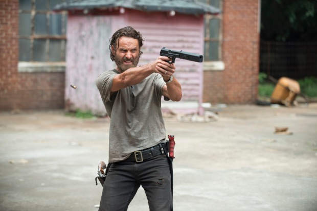 Andrew Lincoln as Rick Grimes - The Walking Dead _ Season 5, Episode 7 - Photo Credit: Gene Page/AMC