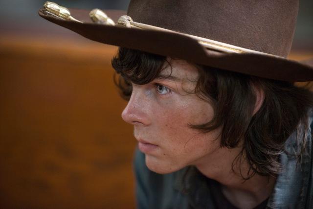 Chandler Riggs as Carl Grimes - The Walking Dead _ Season 5, Episode 8 - Photo Credit: Gene Page/AMC