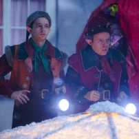 Programme Name: Doctor Who Christmas Special - TX: 25/12/2014 - Episode: Last Christmas, written by Steven Moffat (No. 1) - Picture Shows: Wolf (NATHAN McMULLEN), Ian (DAN STARKEY) - (C) BBC - Photographer: Adrian Rogers