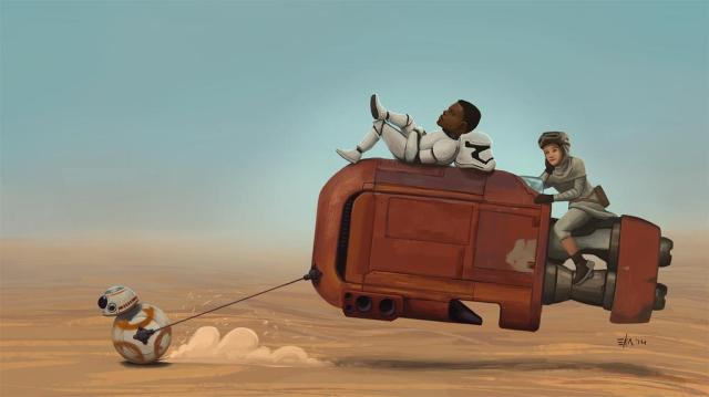 Star Wars: The Force Awakens by Chandana Ekanayake