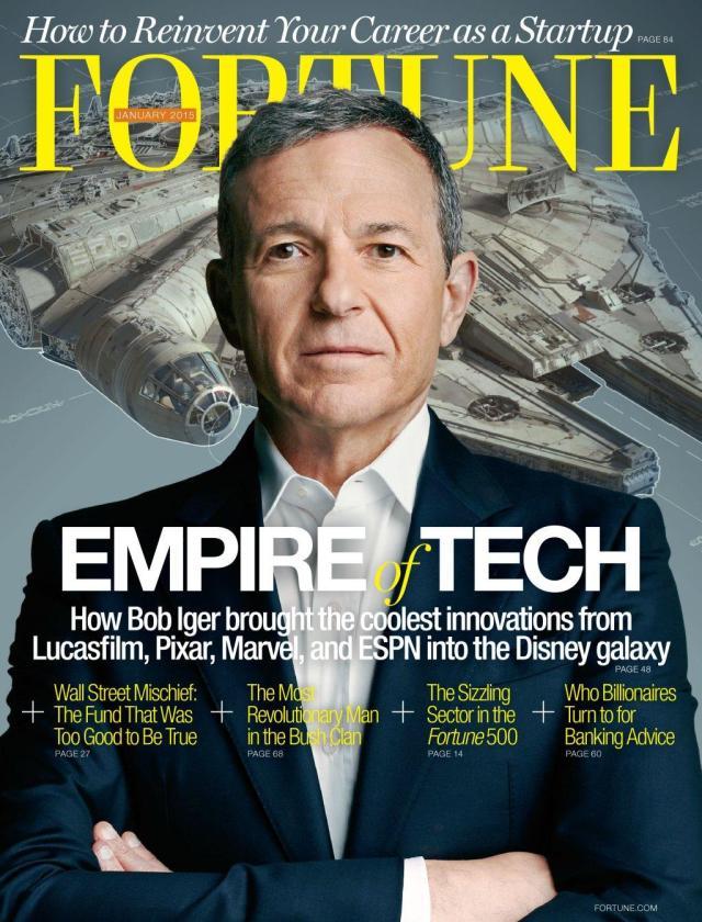 Star Wars_The Force Awakens_Fortune Magazine_Bob Iger_Millenium Falcon