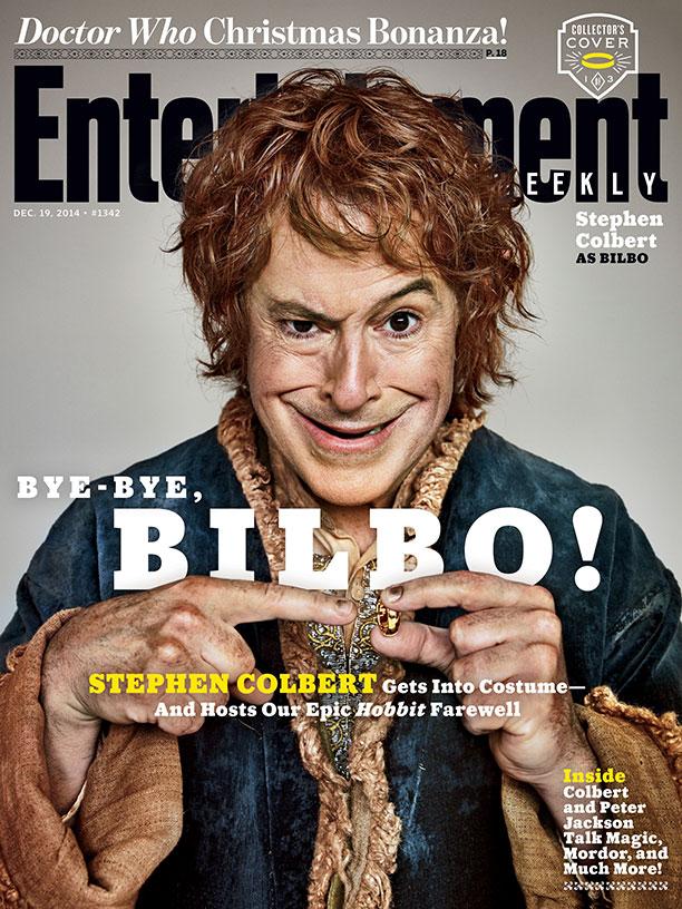 The Hobbit_Stephen Colbert EW Cover_Bilbo