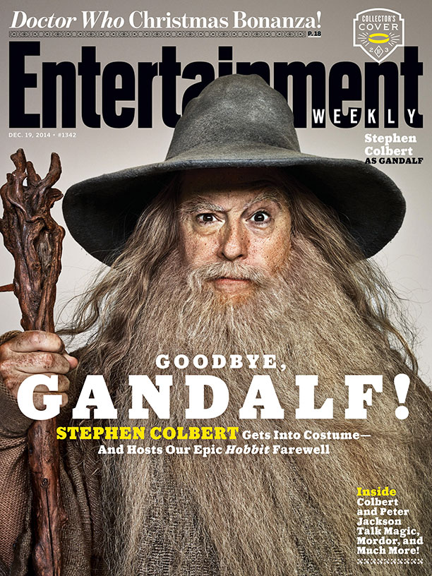 The Hobbit_Stephen Colbert EW Cover_Gandalf