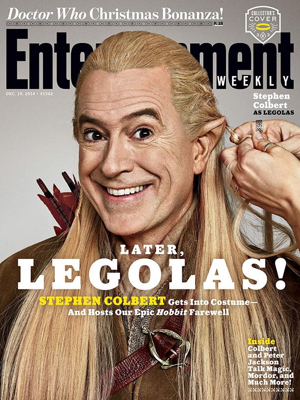 The Hobbit_Stephen Colbert EW Cover_Legolas