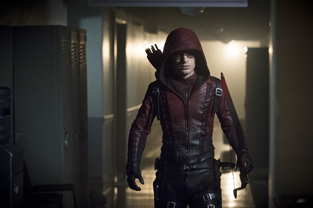 """Arrow -- """"Uprising"""" -- Image AR312A_0260b -- Pictured: Colton Haynes as Arsenal -- Photo: Cate Cameron/The CW -- © 2015 The CW Network, LLC. All Rights Reserved."""
