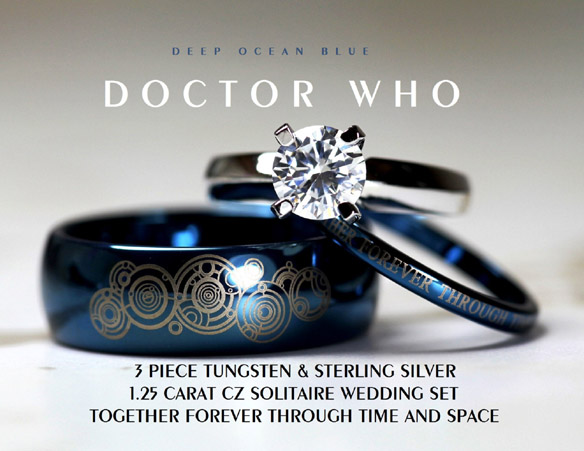 Doctor Who Wedding Ring Set