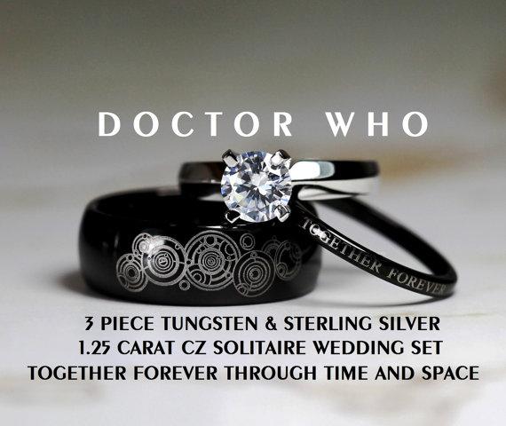 Doctor Who Wedding Ring Set3