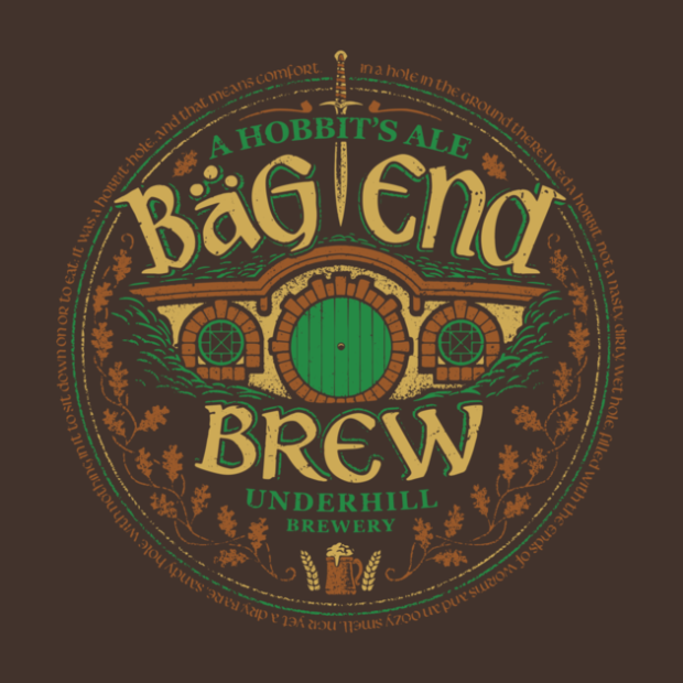 Middle Earth Brews_Bag End Brew_By Cory Freeman Design