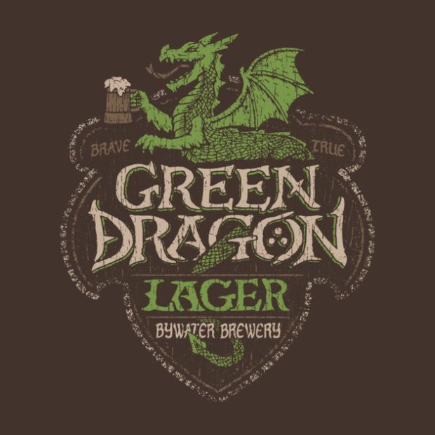 Middle Earth Brews_GREEN DRAGON LAGER_By Cory Freeman Design