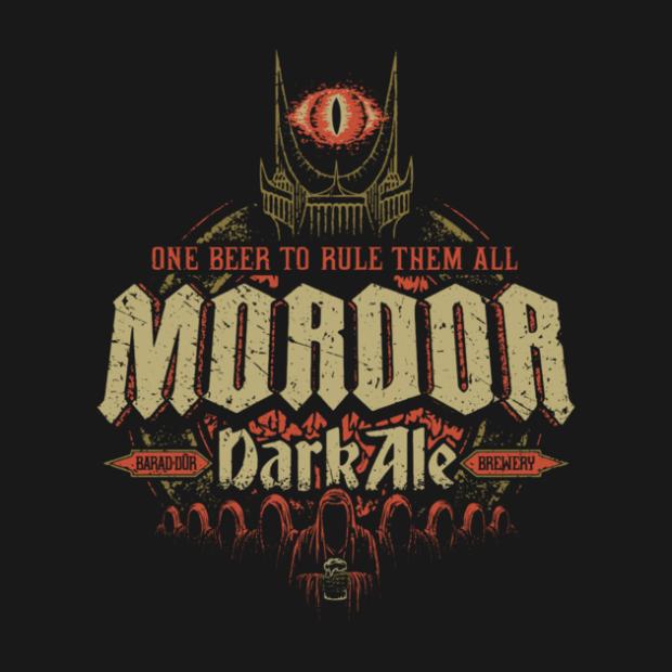 Middle Earth Brews_Mordor Dark Ale_By Cory Freeman Design