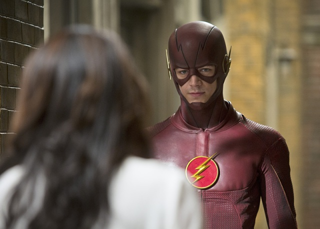 """The Flash -- """"Crazy for You"""" -- Image FLA112A_0218bc -- Pictured (L-R): Candice Patton as Iris West and Grant Gustin as The Flash -- Photo: Katie Yu/The CW -- © 2015 The CW Network, LLC. All rights reserved."""