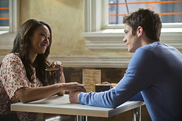"""The Flash -- """"Crazy for You"""" -- Image FLA112A_0276b -- Pictured (L-R): Candice Patton as Iris West and Grant Gustin as Barry Allen -- Photo: Katie Yu/The CW -- © 2015 The CW Network, LLC. All rights reserved."""