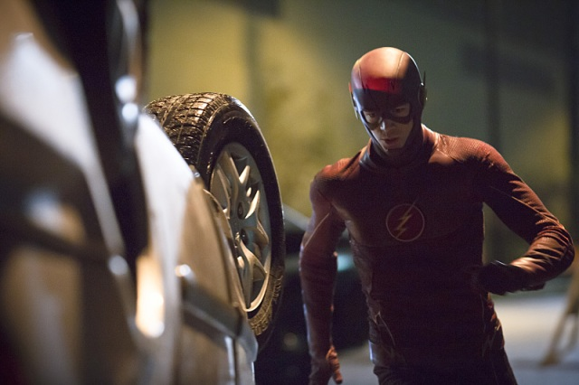 """The Flash -- """"Crazy for You"""" -- Image FLA112A_0432b -- Pictured: Grant Gustin as The Flash -- Photo: Katie Yu/The CW -- © 2015 The CW Network, LLC. All rights reserved."""