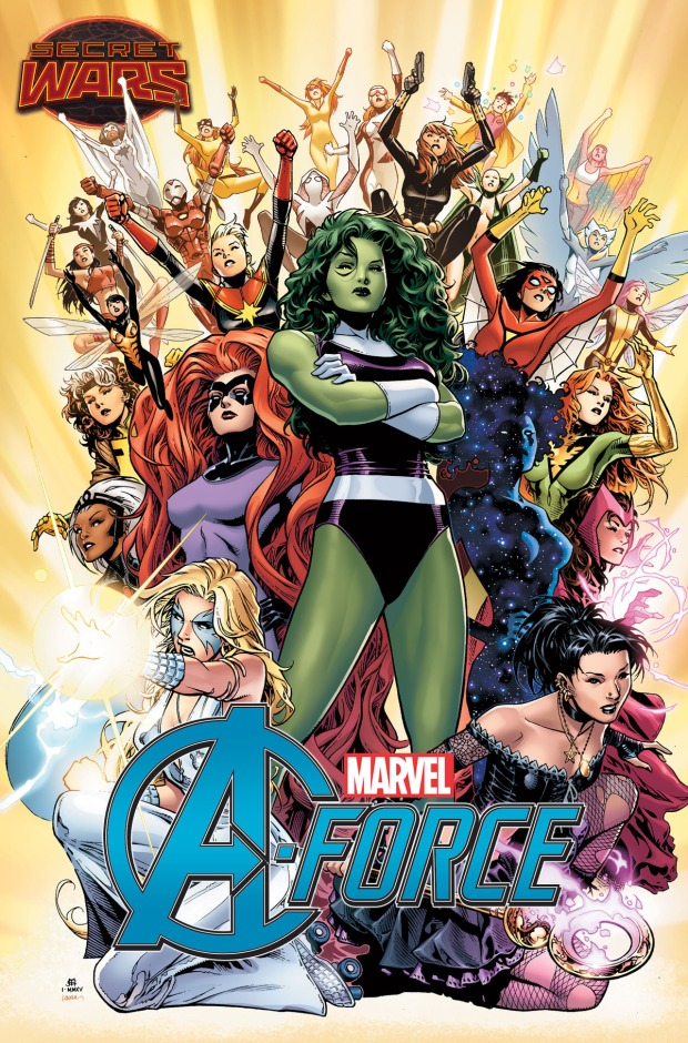 A-Force #1 cover by Jim Cheung