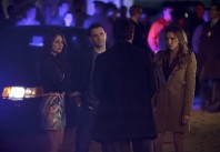 """Arrow -- """"The Return"""" -- Image AR314A_0427b -- Pictured (L-R): Willa Holland as Thea Queen, Colin Donnell as Tommy Merlyn and Katie Cassidy as Laurel Lance -- Photo: Michael Courtney/The CW -- © 2015 The CW Network, LLC. All Rights Reserved."""