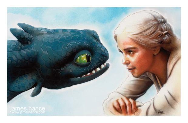 Dragon Training by James Hance