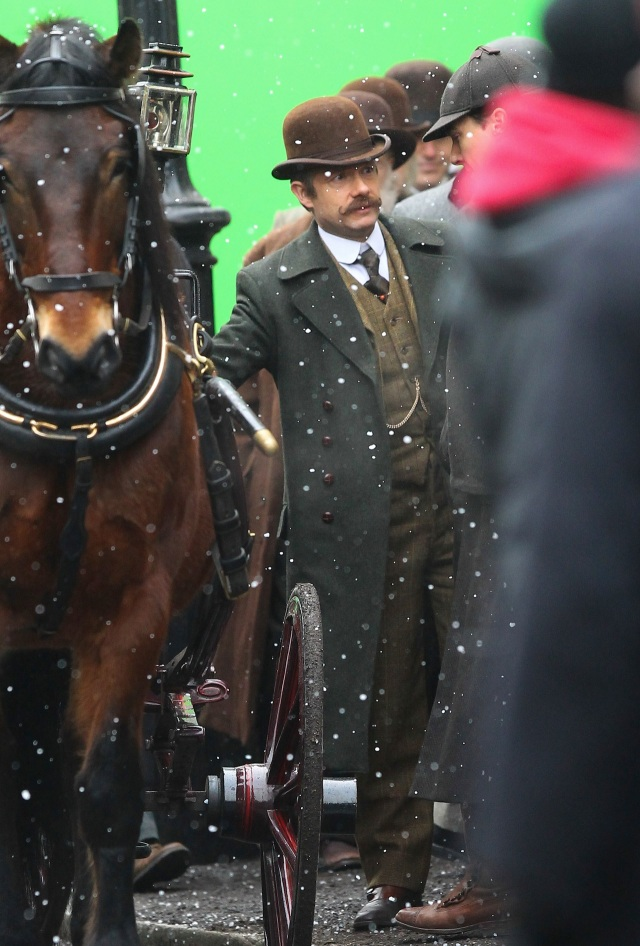 Filming for the 'Sherlock' christmas special