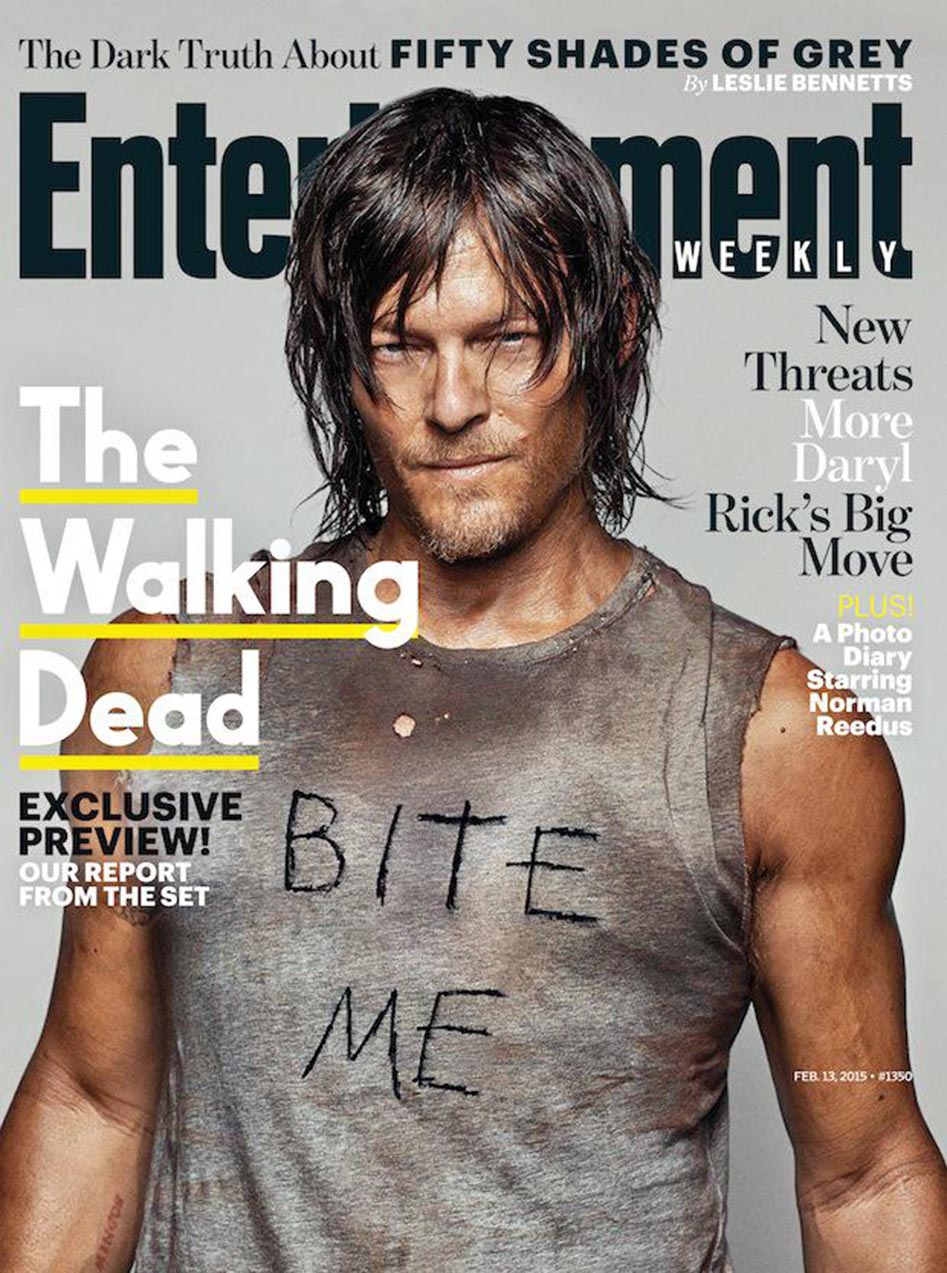 'The Walking Dead' – Norman Reedus Says 'Bite Me' on EW ...