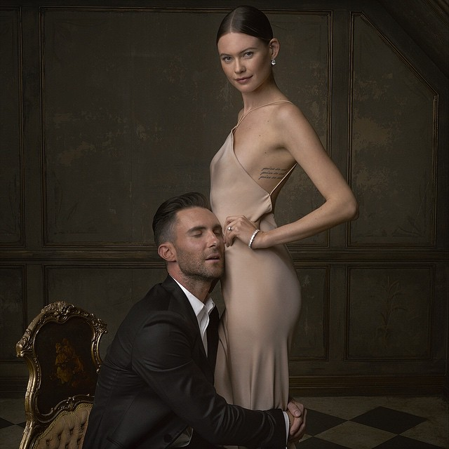 Adam Levine and Bahati Prinsloo