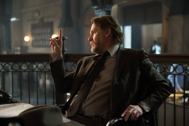 "GOTHAM: Donal Logue (Bullock) appears in the ""Beasts of Prey"" episode of GOTHAM airing Monday, April 13 (8:00-9:00 PM ET/PT) on FOX.  ©2015 Fox Broadcasting Co. Cr: Jessica Miglio/FOX"