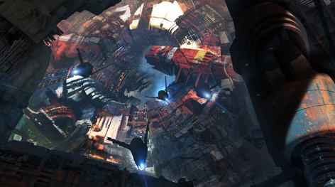 Framestore's concept art for Knowhere