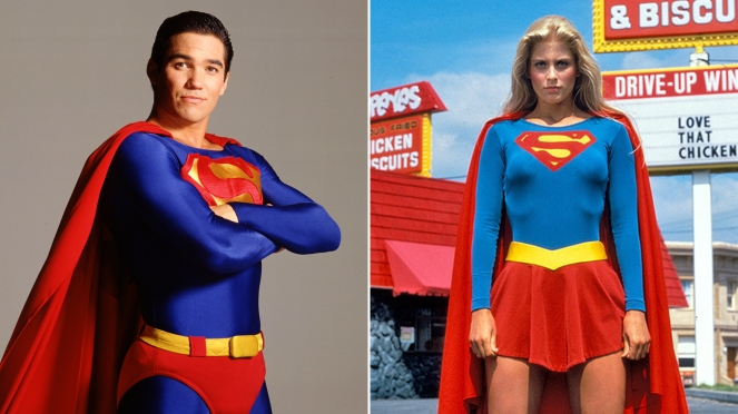 Supergirl_Dean Cain and Helen Slater