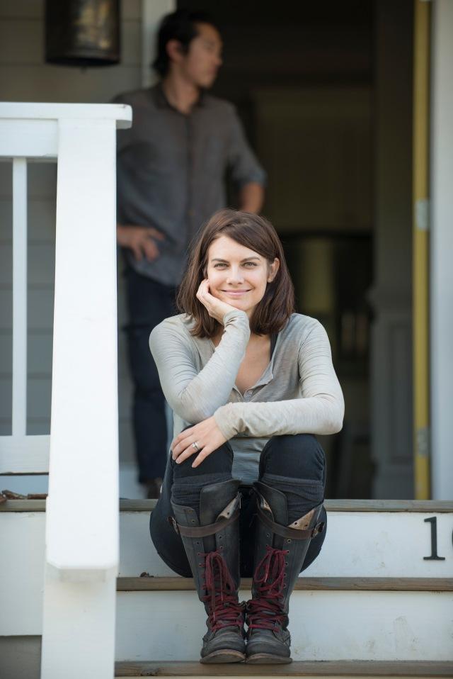 Lauren Cohan - The Walking Dead _ Season 5, Episode 12 _ BTS - Photo Credit: Gene Page/AMC