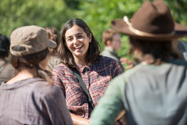 Alanna Masterson - The Walking Dead _ Season 5, Episode 12_ BTS - Photo Credit: Gene Page/AMC