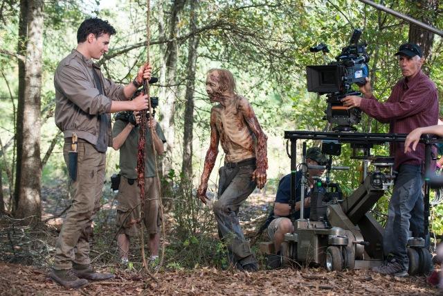 The Walking Dead _ Season 5, Episode 12 _ BTS - Photo Credit: Gene Page/AMC