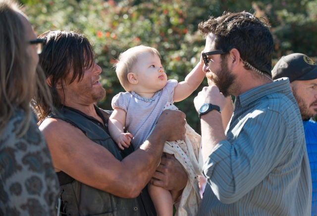 Norman Reedus - The Walking Dead _ Season 5, Episode 12_ BTS - Photo Credit: Gene Page/AMC