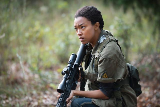 Sonequa Martin-Green as Sasha - The Walking Dead _ Season 5, Episode 13 - Photo Credit: Gene Page/AMC
