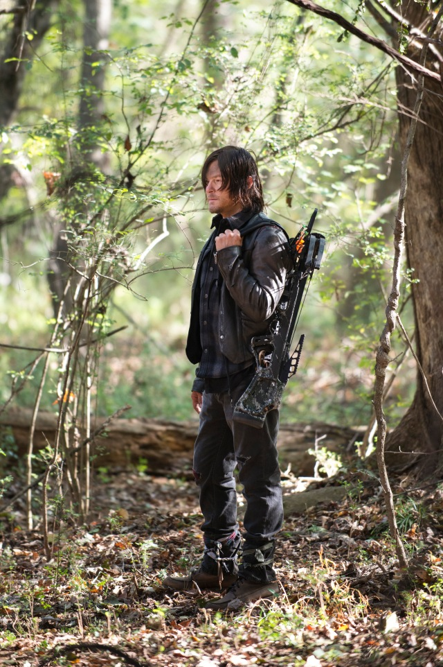 Norman Reedus - The Walking Dead _ Season 5, Episode 15 _ BTS - Photo Credit: Gene Page/AMC